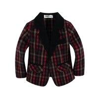 Mới đến dệt cotton 100% toddler Boy blazer với dễ thương vải kẻ sọc loại Màu Đ