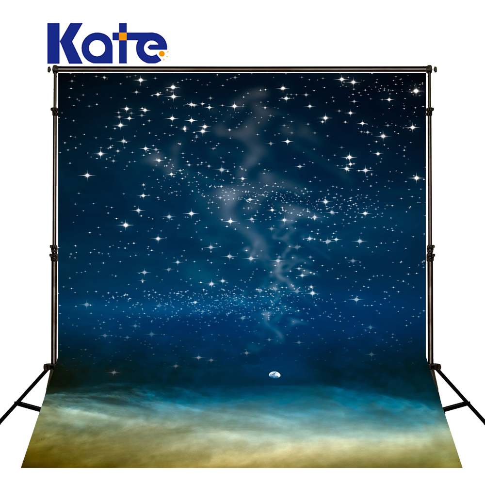 Kate Dark Blue Starry Sky Baby Photography Backdrops Bokeh Children Background For Photography Cotton Washable Photo Backdrop