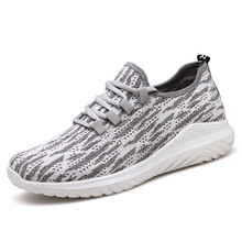 New mens shoes flying woven sports trend casual