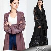 Plus Size Autumn Blusas Mujer De Moda 2018 Abaya Women Long Chiffon Lace Cardigan Kimonos Mujer Roupa Korean Fashion Clothing