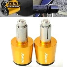 цены 7/8 22MM Handlebar Gear Balanced Plug Slider Motorcycle Aluminum Hand Bar Ends Grips Cap For Yamaha X-MAX XMAX 250 300 500 530