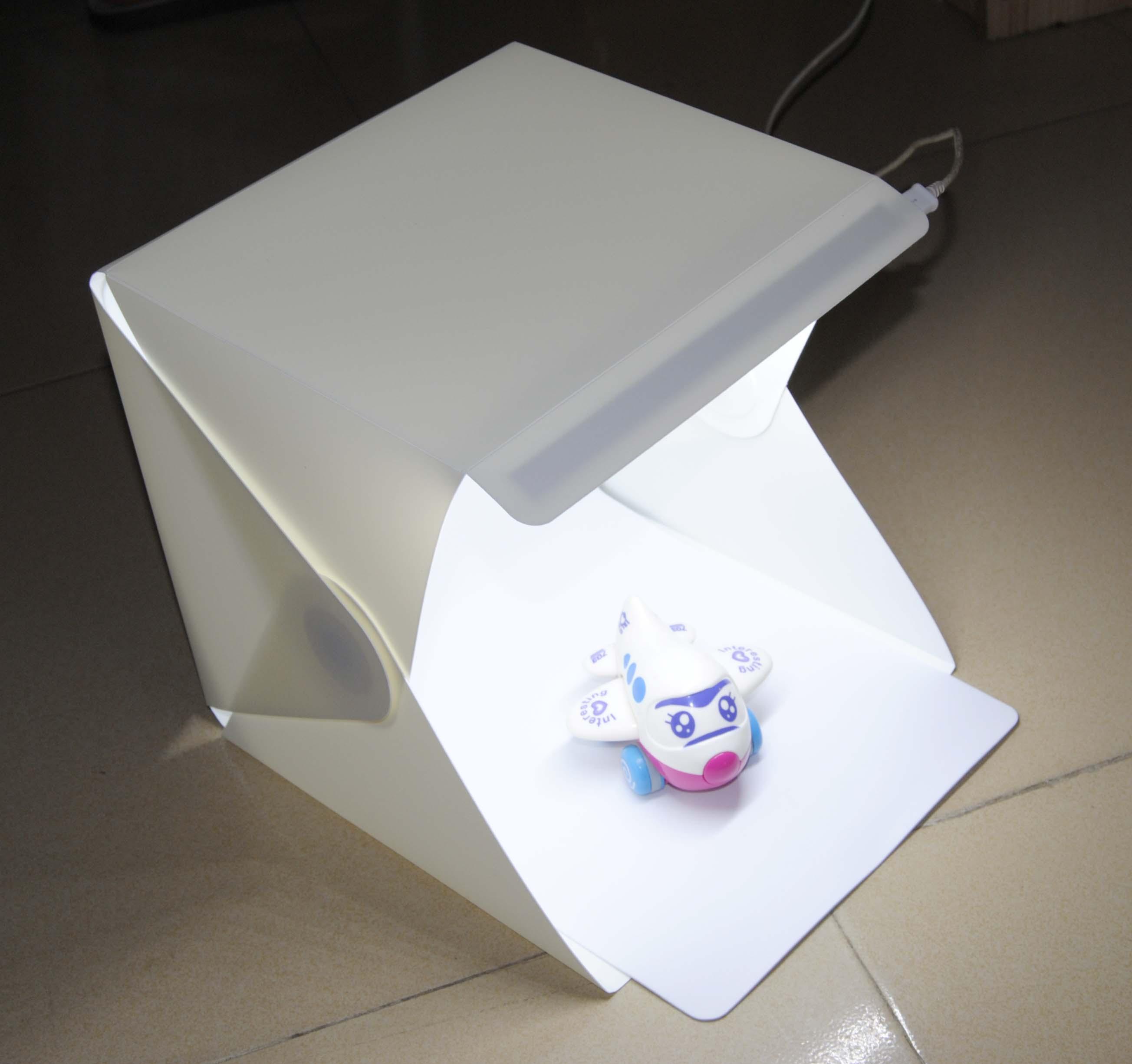 Мини складной студия диффузный софтбокс со светодиодной подсветкой черный, белый цвет Задний план Аксессуары для фотостудии Аксессуары дл