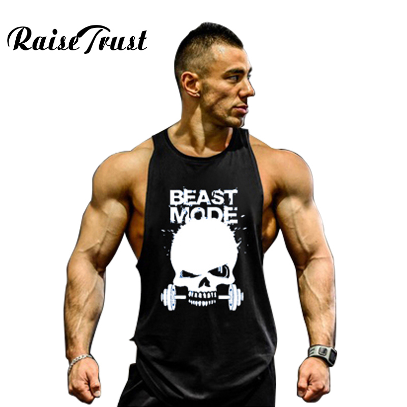 Men's bodybuilding   tank     tops   for Muscular sleeveless singlet and undershirt in men clothes 2018 musculation fitness clothing