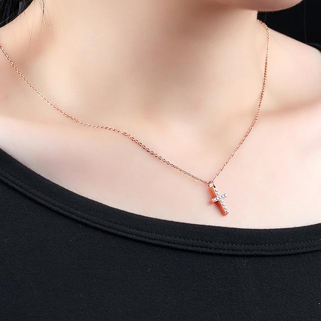Купить женское ожерелье из нержавеющей стали с кулоном розовое золото