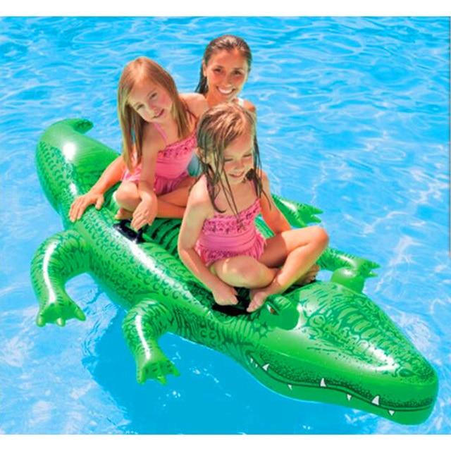 kinder aufblasbare gro es krokodil baby fahrer aufblasbare spielzeug tier wasser reiter f r pool. Black Bedroom Furniture Sets. Home Design Ideas