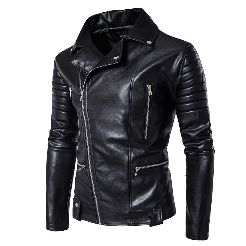 Image 3 - Puff sleeve business casual leather coat New winter Fashion leather jackets slim fit Men Classic leather jacket M 5XL size-in Faux Leather Coats from Men's Clothing