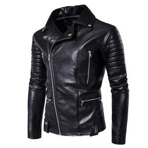Image 3 - Puff sleeve casual abrigo de cuero nuevo invierno cuero de moda chaquetas slim fit hombres Cuero clásico chaqueta M 5XL tamaño
