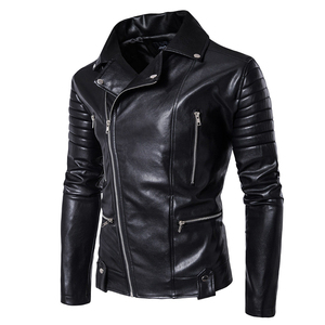 Image 3 - Puff sleeve negócios casual casaco de couro nova moda inverno jaquetas de couro fino ajuste masculino clássico jaqueta de couro M 5XL tamanho