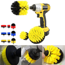 3 Pcs/1 Set Brush Kit Power Scrub Drill Cleaning Bathroom Shower Tile Grout Cordless Scrubber Attachment