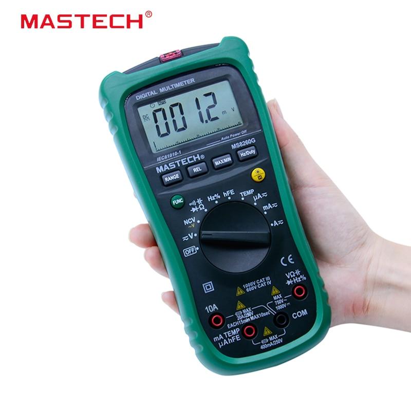 MASTECH MS8260G Auto Range Digital Multimeter ohm voltage and current Capacitance Frequency Temperature Meter