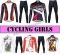 Высокое качество  Женская команда  Майки для велоспорта  женские  для велоспорта  флисовые  на выбор  женская спортивная одежда с длинным рук...