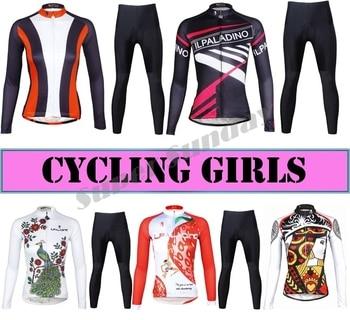 Top Quality Women's Team Cycling Jerseys Woman Cycling Jersey Fleece Optional Female Long Sleeve Sports Wear Free Shipping