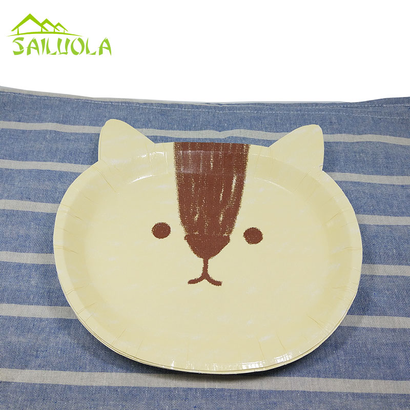 18pcs/lot Disposable Cute Animal Thickening Paper Plates Party Cake Paper Plates for Baby Shower Birthday Party Decor-in Disposable Party Tableware from ... & 18pcs/lot Disposable Cute Animal Thickening Paper Plates Party Cake ...