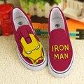 Primavera anime Vengadores Capitán América Hulk Iron Man graffitis pintados zapatos planos de los estudiantes masculinos y femeninos