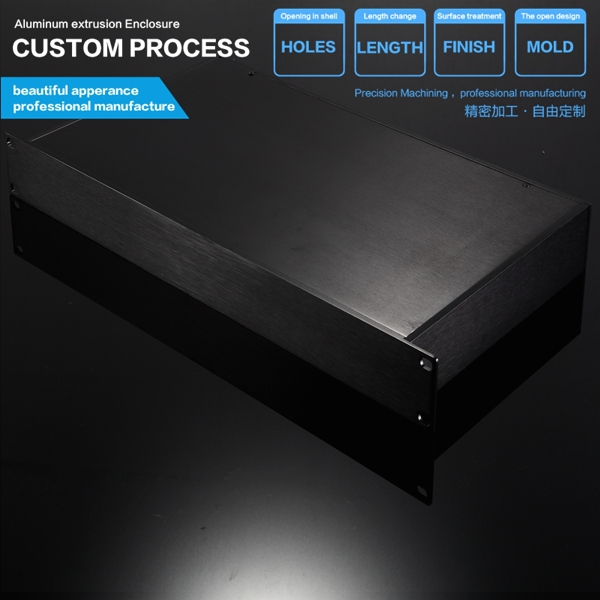 YGH-002 482*44.5-250 mm (wxhxd) 1 U full aluminum flat side panel  rack mount chassis  finish with brush wa20p cd [ rack panel 4pin 2contacts rack and panel]