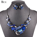 MS20676 Fashion Jewelry Sets Silver Plated Purple/Leopard/Blue/Gray Colors Unique Design Party Gifts High Quality Free Shipping