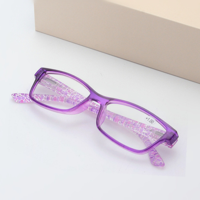 Reading Glasses Women Men Unbreakable Resin Eyeglasses Flower Colors Temple Presbyopic Eyeglasses 1.5 2.5 3.5
