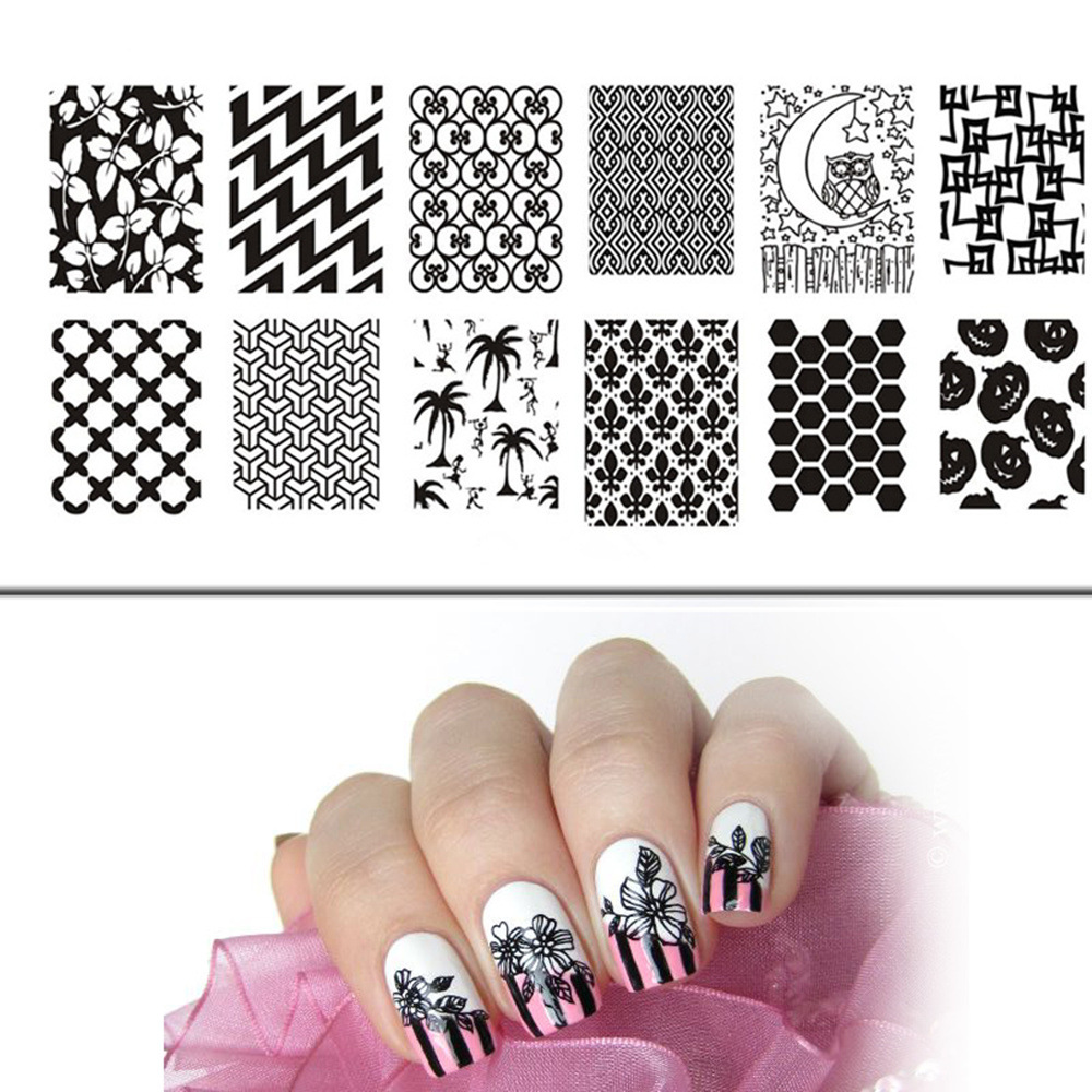 Nail Stamping Plates Stamp Polish Stamps for Nails Pretty Design 6 ...