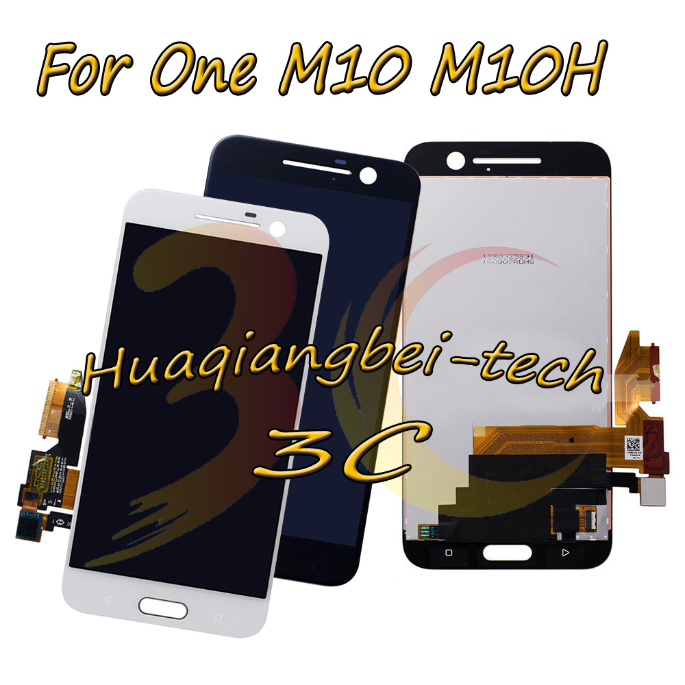 5.2'' New For HTC 10 One M10 M10H Full LCD DIsplay + Touch Screen Digitizer Assembly Black / White 100% Tested + Tracking-in Mobile Phone LCD Screens from Cellphones & Telecommunications