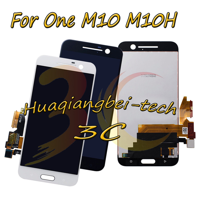 5.2 New For HTC 10 One M10 M10H Full LCD DIsplay + Touch Screen Digitizer Assembly Black / White 100% Tested + Tracking