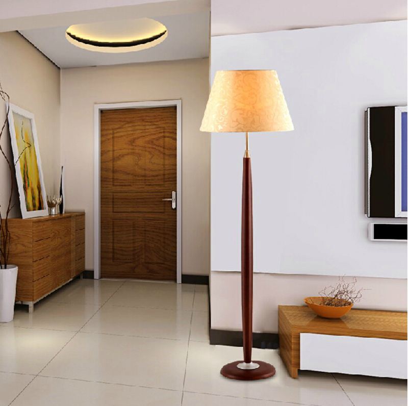 Nordic Wooden Floor Lamps Fashion Solid Wood Floor Light
