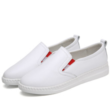 2019 New Spring Tenis Feminino Slip on White Shoes Woman PU Leather Solid Color Female Shoes Casual Women Shoes Sneakers laisumk 2019 new spring tenis feminino lace up white shoes woman pu leather solid color female shoes casual women shoes sneakers