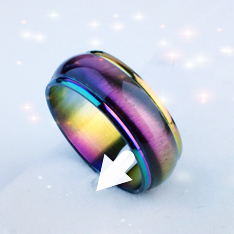 fahion rainbow rings wholesale stainless steel jewelry