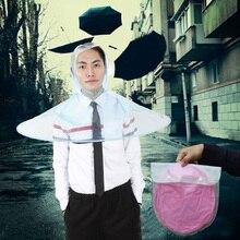 1 stück Tragbare Transparent Regenschirm Hut Kappe Falten Sonnig und Regnerisch regenschirm Brock UFO Kappe Angeln Golf Outdoor für Kinder erwachsene 2