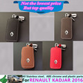 Free shipping for Renault Kadjar 2016 car inner Stick  cover detector Leather key Chain bag cases Graffiti frame lamp 1pcs