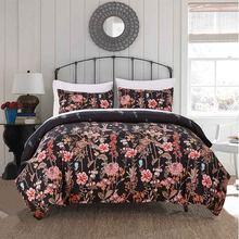 Черный комплект постельного белья 3d пододеяльник Стёганое одеяло