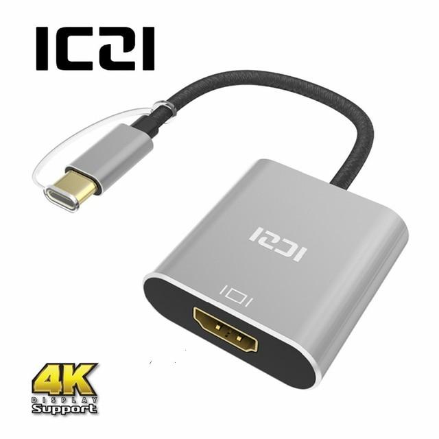 ICZI 4K Thunderbolt 3 USB 3.1 Type C to HDMI Aluminum Body Adapter for MacBook Chromebook Pixel Yoga 900 Lumia 950 / 950XL