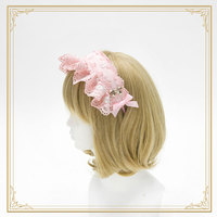 Sweet Lolita Lace Hairband with Bows by Sweetdreamer