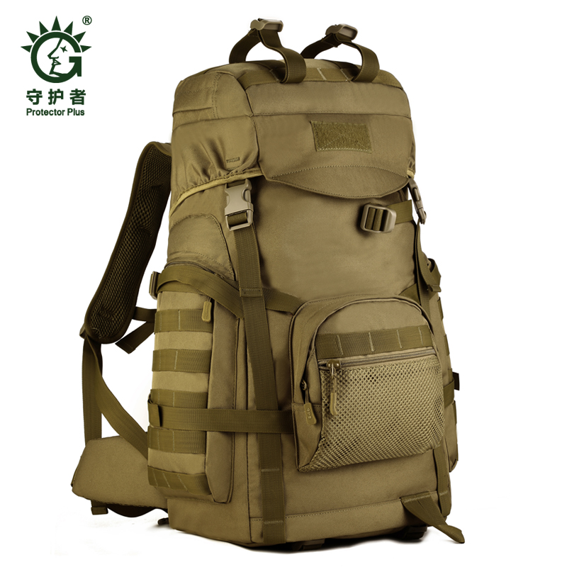 Waterproof Molle Backpack Camping bags Military 3P Gym Hiking Trekking Ripstop Tactical Gear for men 60L trekking gym protector plus sports outdoor military molle tactical bag backpack for mochila camping travel hiking backpacks bags sporttas