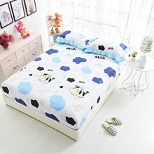 Fitted Sheet  Mattress Cover 100%Cotton Pillowcase Bed Sheet Sanding Fabric With Elastic Band Dust 90/120/140/150/160/180*200
