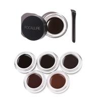 1PC Fashion Cosmetic Eyebrow Enhancers Easy to Makeup Beauty Waterproof Long Lasting Eye Brow Eyeliner Gel Cream With Brush Makeup