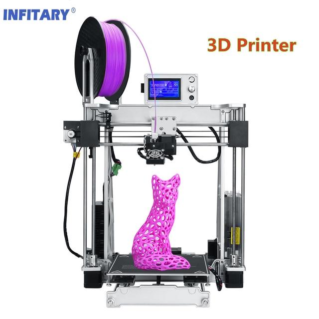 Infitary Haute précision Reprap 3D Métal Imprimante DIY kits 3d impression Avec SD Carte et PLA Filaments impresora 3D imprimante
