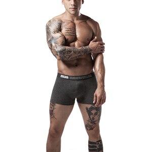 Image 3 - 6pcs/lot Cotton Mens Underpants Soft Boxer Men Breathable Solid Underwear Flexible Boxershorts Underpants Vetement Homme