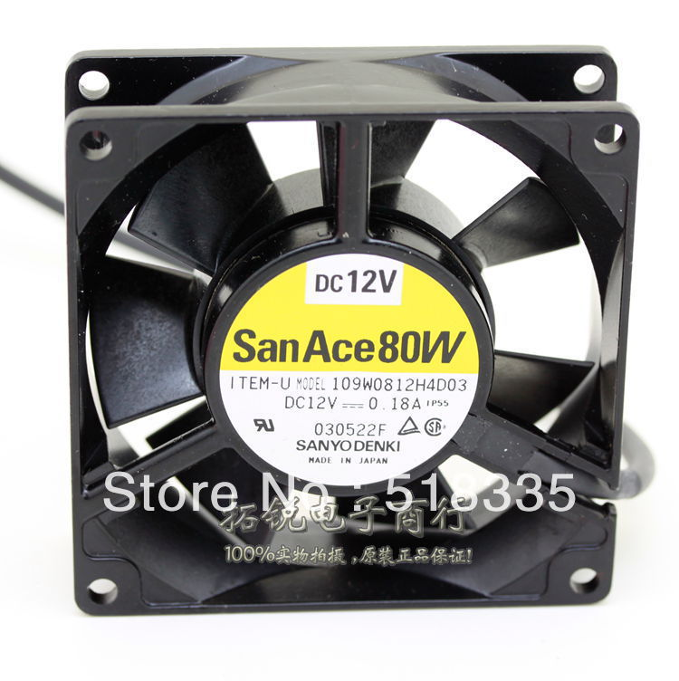 ФОТО Free Shipping!Sanyo 109W0812H4D03 12V 0.18A 8025 8cm 80mm pc case server inverter cooling fan