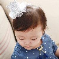 10ps Lot New Hot Baby Girls Sweet Gauze Crown Clip South Korea Pop Princess Baby Hairpin