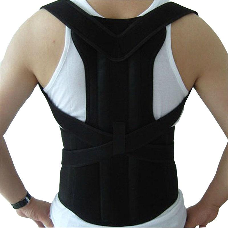 조정 가능한 남성 벨트 남자 자세 교정기 치료 자세 정형 외과 어깨 통증 요추 코르셋 뒤로 가새 벨트 끈