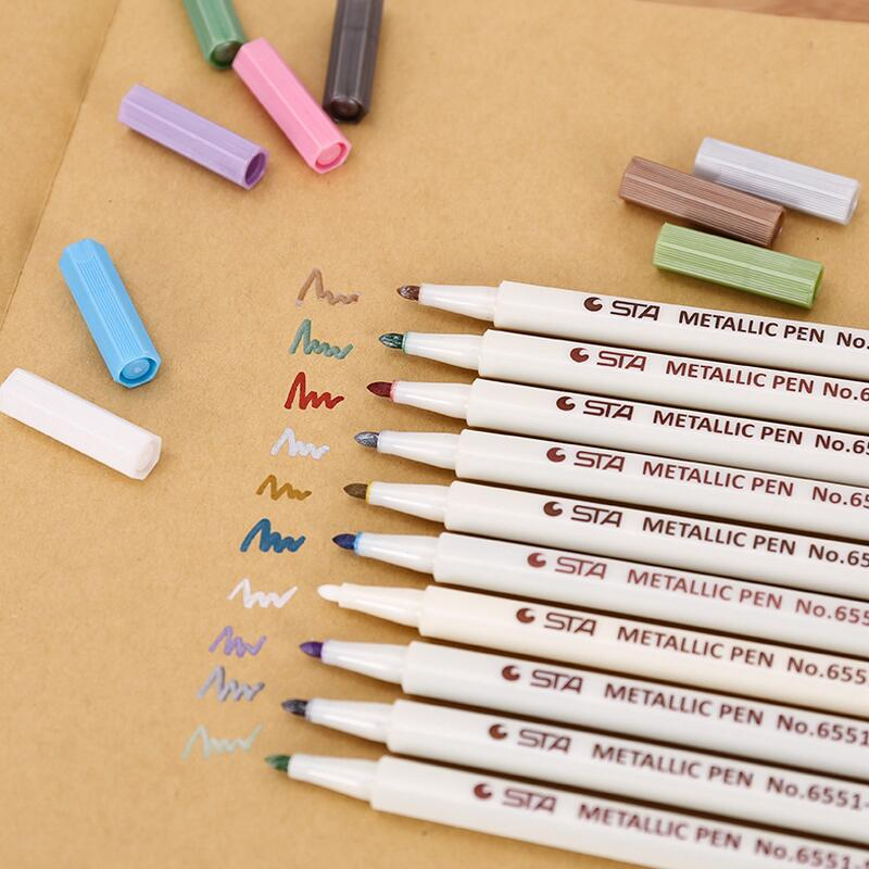 DIY Cute Water Chalk Pen Watercolor Gel Pen For Black Board Marker Pen For Wedding Photo Album Scrapbooking