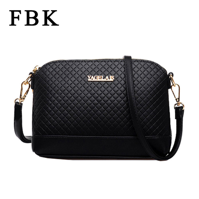 FBK Quality 2015 New Fashion Women Handbag Leather Women Messenger Bags Wave Lingge Small Women Bags Simple Casual Style Bolsa