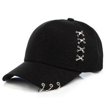2019 fashion Women Sun Hat Baseball Cap Snapback White Pink Summer Outdoor Sunscreen Caps Couple Men Iron Ring Hats bone