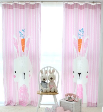 Modern Kids Rabbite Printed Cloth Blackout Bedroom Curtain Pink Cartoon  Child Living Room Curtains Cortinas For Window In Curtains From Home U0026  Garden On ...