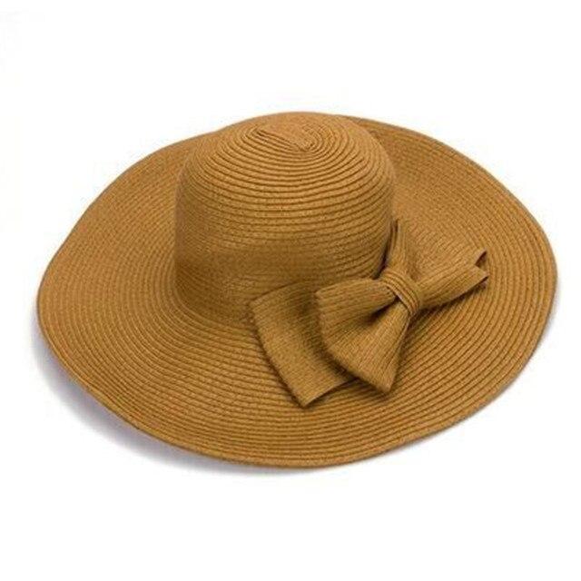 d5645b87be9 2016 summer sun shade Panama Bohemian fashion floppy summer hat sun hat  beach hat large wide brim women