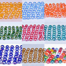 купить 4mm 6mm 8mm Czech Rondelle Spacer Crystal Glass AB Beads For Jewelry Making Faceted 35Colors Diy Beads Loose Wholesale недорого
