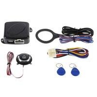 Auto Car Alarm Engine Starline Push Button Start Stop RFID Safe Lock Ignition Switch Keyless Entry Starter Anti-theft System