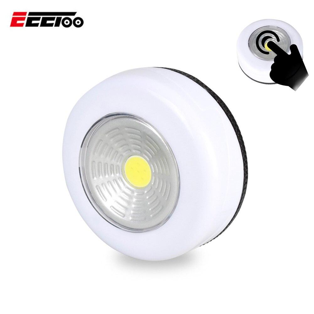 LED Under Cabinet Light White Lamp Battery Powered Easy to Install Closet Cupboard Bedroom Illumination Kitchen Decor Lighting Under-cabinet lighting