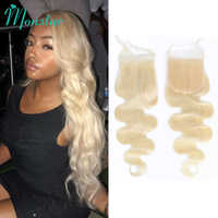 Monstar 613 Blonde Brazilian Remy Body Wave Closure 4x4 Human Hair Closure 8 - 24 Inch Free Part Lace Closure With Baby Hair