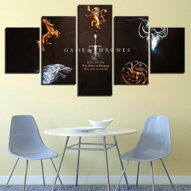 "5 Pieces ""Game Of Thrones"" Canvas 1"